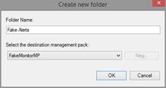 New Folder in SCOM