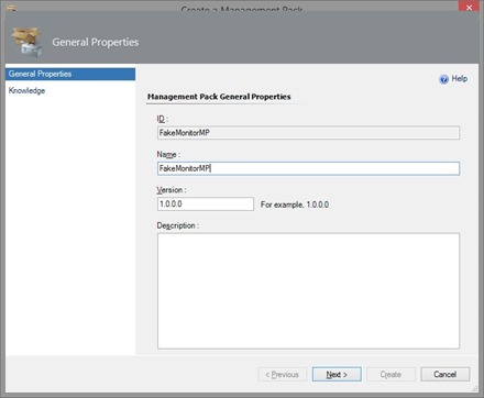 Create Unit Monitor in SCOM - Management Pack
