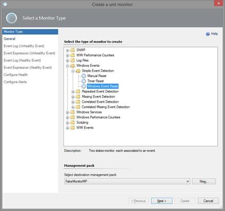 Create Unit Monitor in SCOM - Windows Event Reset