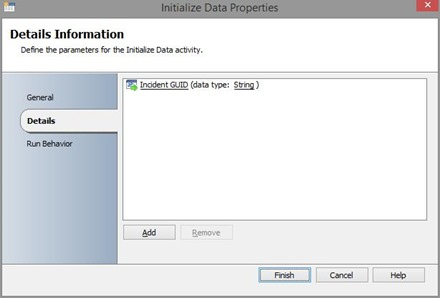 Runbook initialization
