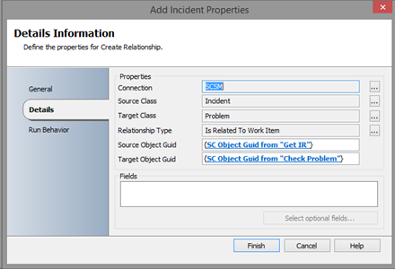 create relationship scsm incident and problem