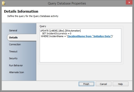 Query DB in child runbook